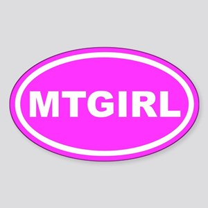 MT GIRL Montana Pink Euro Oval Sticker