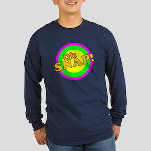 Oh Snap! Long Sleeve Dark T-Shirt