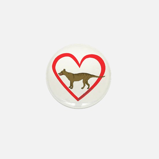 Heart Taz Mini Button (10 pack)
