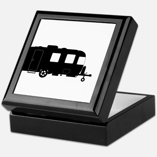 Large Luxury Caravan Silhouette Keepsake Box