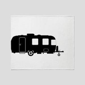 Large Luxury Caravan Silhouette Throw Blanket