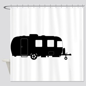 Large Luxury Caravan Silhouette Shower Curtain