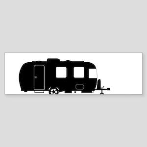 Large Luxury Caravan Silhouette Bumper Sticker
