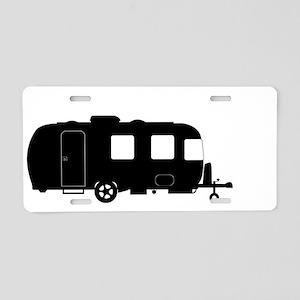 Large Luxury Caravan Silhou Aluminum License Plate