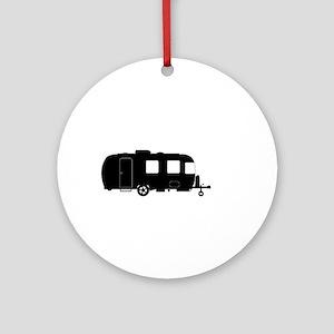 Large Luxury Caravan Silhouette Round Ornament