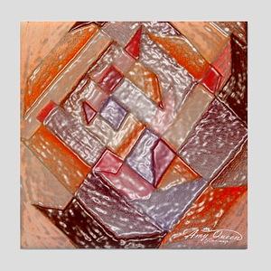 Red Quilt Tile Coaster