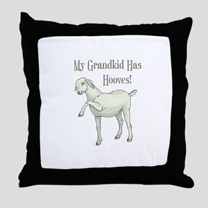 My Grandkid Has Hooves Throw Pillow