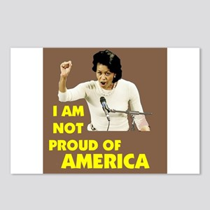 NOT PROUD OF AMERICA   Postcards (Package of 8)