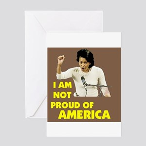 NOT PROUD OF AMERICA Greeting Card