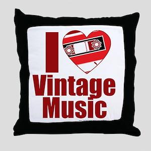 Vintage Music Love Throw Pillow
