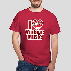 Vintage Music Love Dark T-Shirt