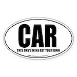Car Oval Sticker