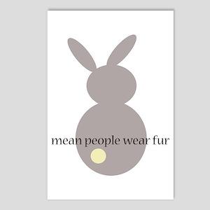 mean people wear fur Postcards (Package of 8)