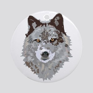 Wolf Head Ornament (Round)