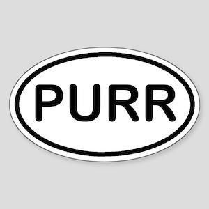 PURR Kitty Cat Euro Oval Sticker