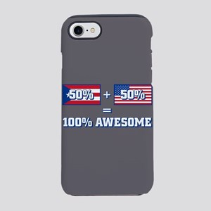50% Puerto Rican 50% America iPhone 8/7 Tough Case