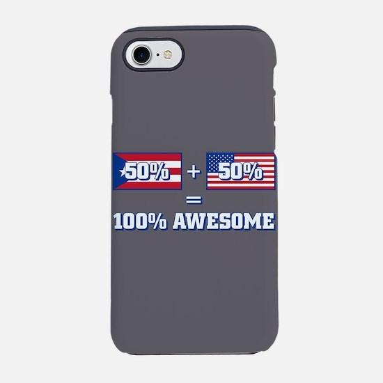 50% Puerto Rican 50% America iPhone 8/7 Tough Case