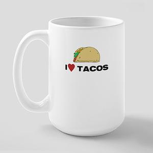 I Love Tacos Large Mug