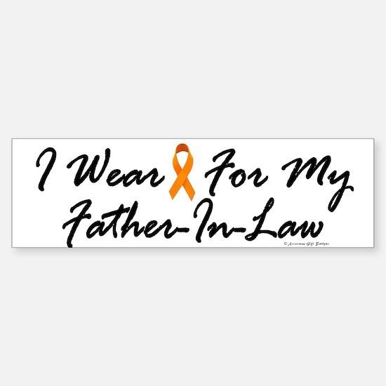 I Wear Orange For My Father-In-Law 1 Bumper Bumper Sticker