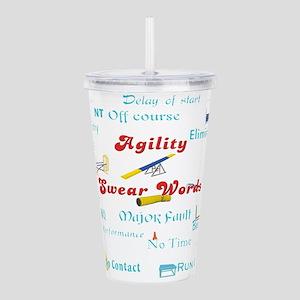 Agility Swear Words Acrylic Double-wall Tumbler