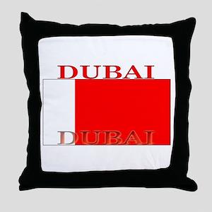 Dubai Flag Throw Pillow