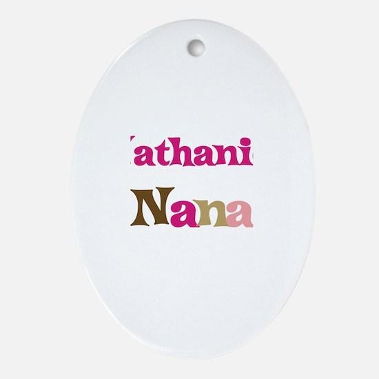 Nathaniel's Nana  Oval Ornament