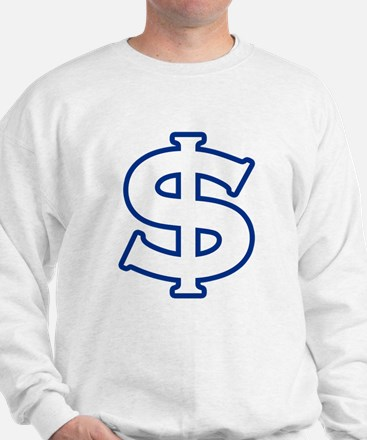 Dollar Sign Blue Sweatshirt