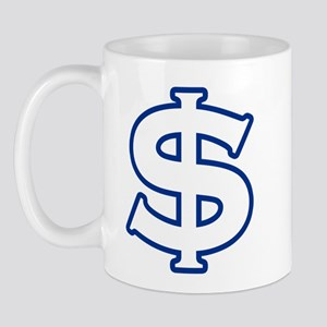 Dollar Sign Blue Mug