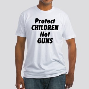 Protect Children Not Guns Fitted T-Shirt