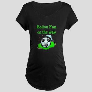 Bolton Fan on the way Maternity Dark T-Shirt