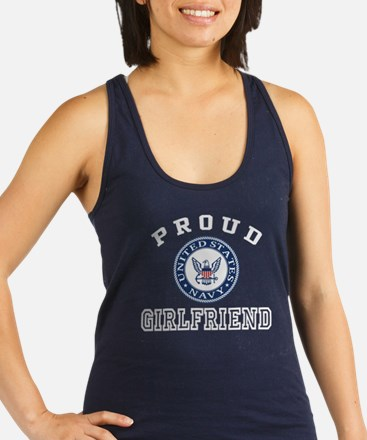 Proud US Navy Girlfriend Racerback Tank Top