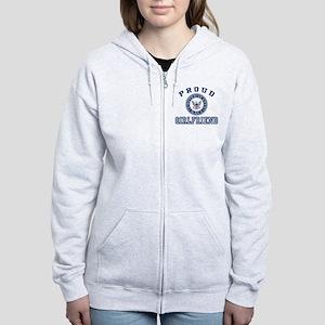 Proud US Navy Girlfriend Women's Zip Hoodie