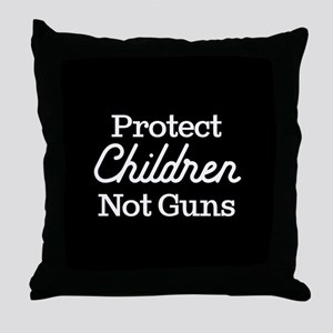 Protect Children Not Guns Throw Pillow