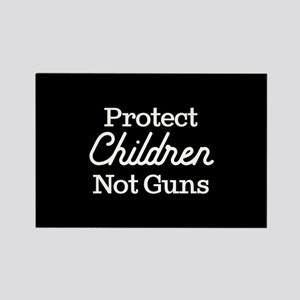 Protect Children Not Guns Rectangle Magnet
