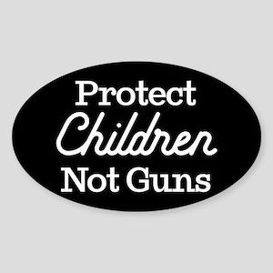 Protect Children Not Guns Sticker (Oval 10 pk)