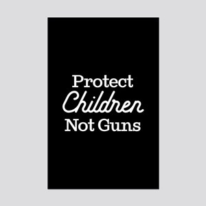 Protect Children Not Guns Mini Poster Print