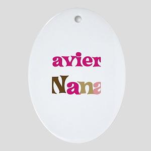 Xavier's Nana  Oval Ornament
