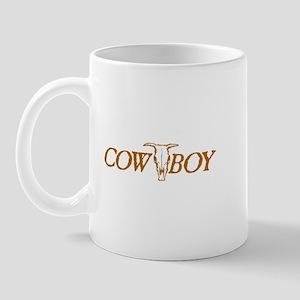 Cowboy Cow Skull Mug