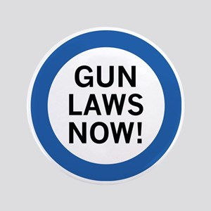"Gun Laws Now! 3.5"" Button (100 pack)"