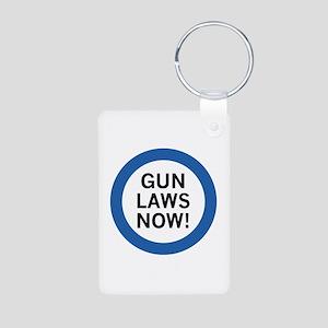 Gun Laws Now! Aluminum Photo Keychain