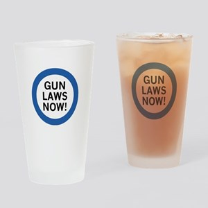 Gun Laws Now! Drinking Glass