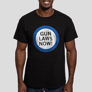 Gun Laws Now! Men's Fitted T-Shirt (dark)
