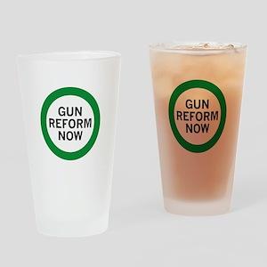 Gun Reform Now Drinking Glass
