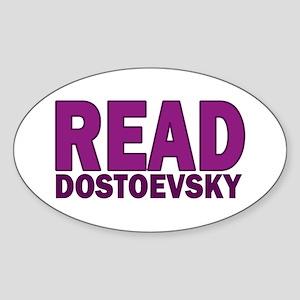 Dostoevsky Oval Sticker