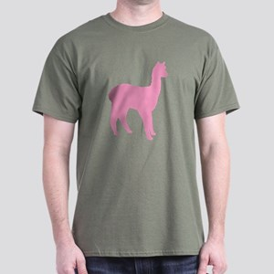 pink standing alpaca Dark T-Shirt