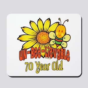 Un-Bee-Lievable 70th Mousepad