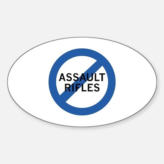 Ban Assault Rifles Sticker (Oval)