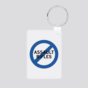 Ban Assault Rifles Aluminum Photo Keychain