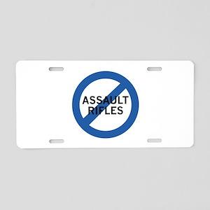 Ban Assault Rifles Aluminum License Plate