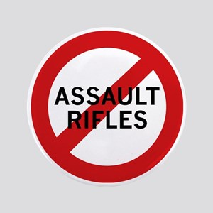 "Ban Assault Rifles 3.5"" Button (100 pack)"